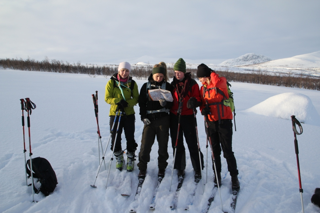 A few of my new co-workers on an orientation ski trip. (Photo by Mats Jacobsson)