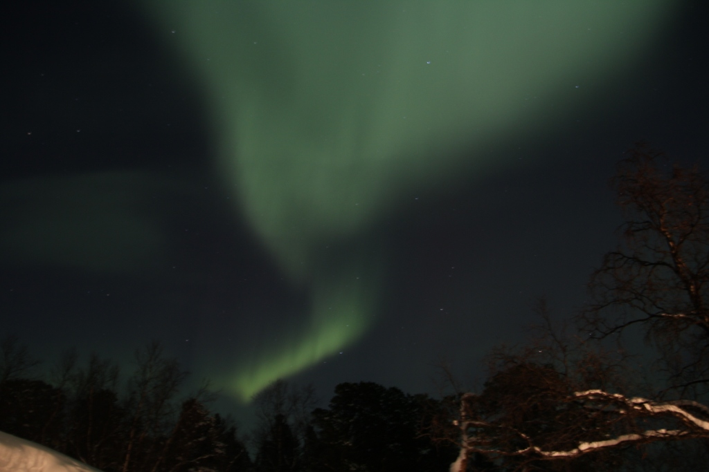 The northern lights (photo by Mats Jacobsson).