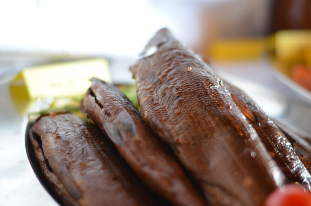 Warm smoked Sik (whitefish) were succulent and delicious.