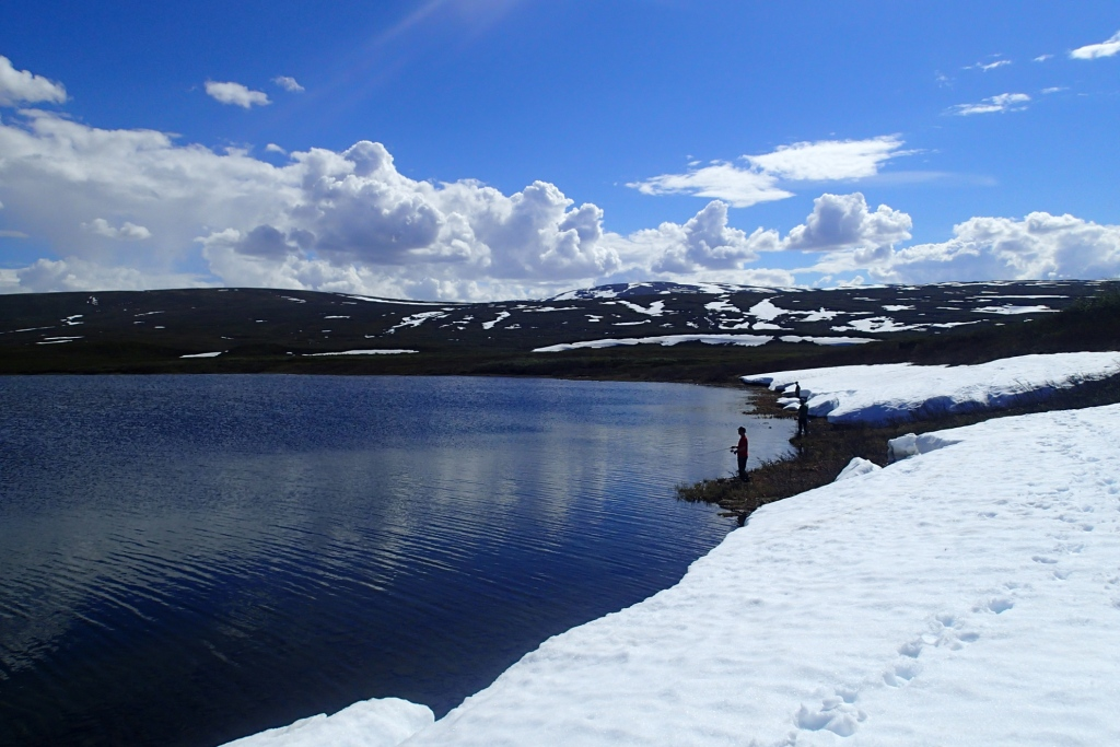 Summer above the Arctic Circle.  Non-stop daylight, occasionally warm weather, and tons of fish makes for good fishing.