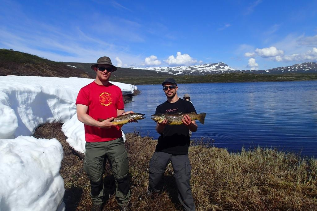 Fishing in the mountains can yield some suprisingly large brown trout if you know where to fish!