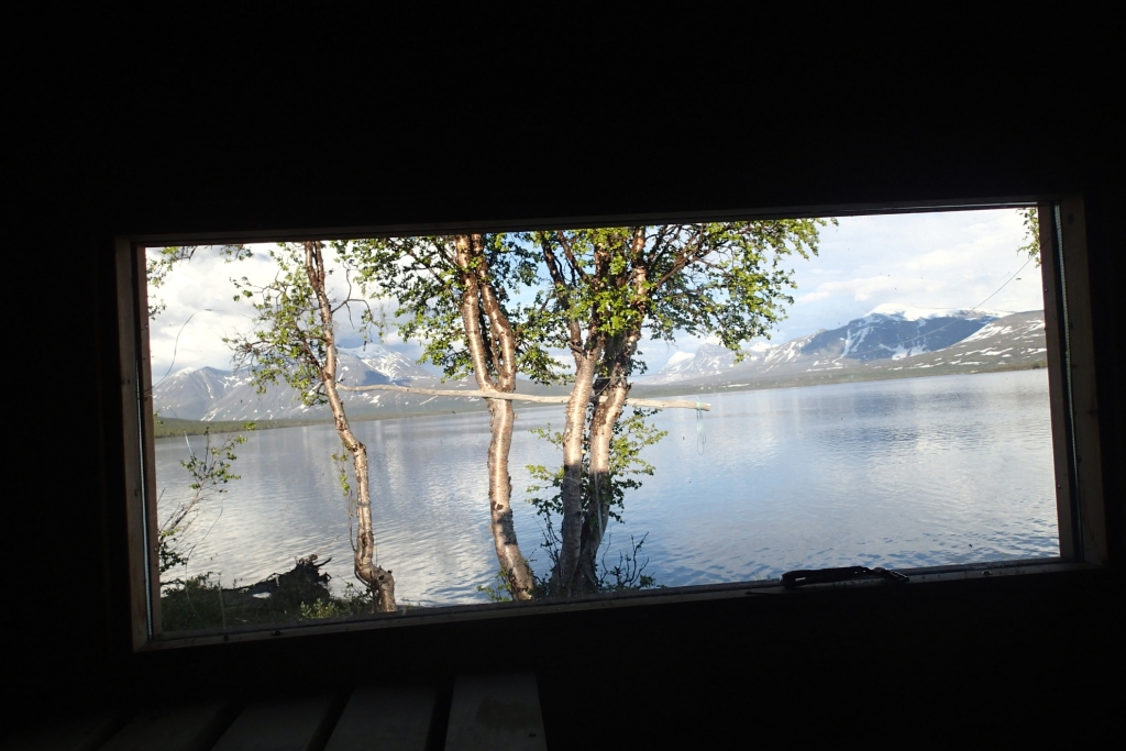 A rather good view from this remote sauna. Photo by Cate and Logan Mitchell.